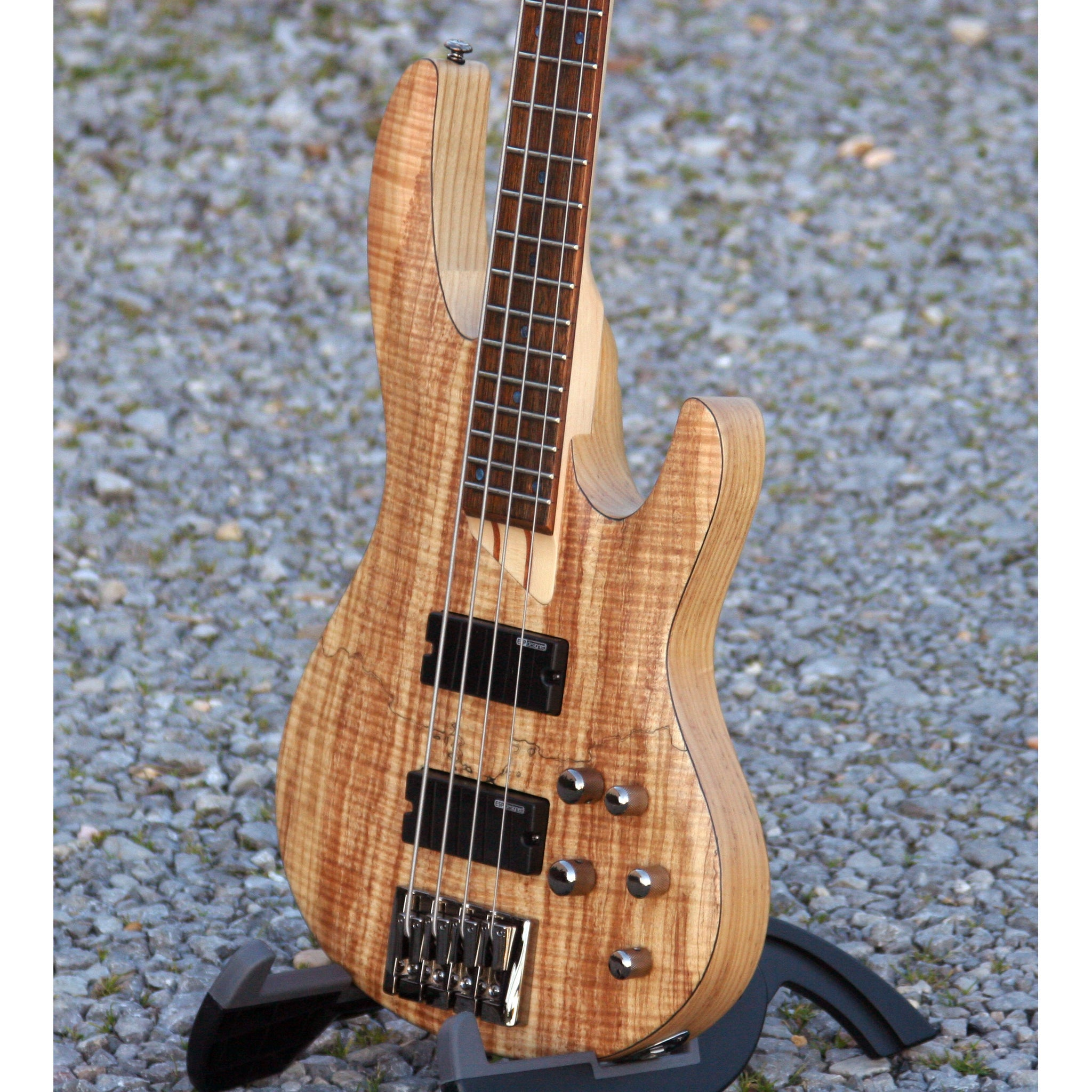 LTD 4 String Bass, Spalted Maple With Natural Satin Finish