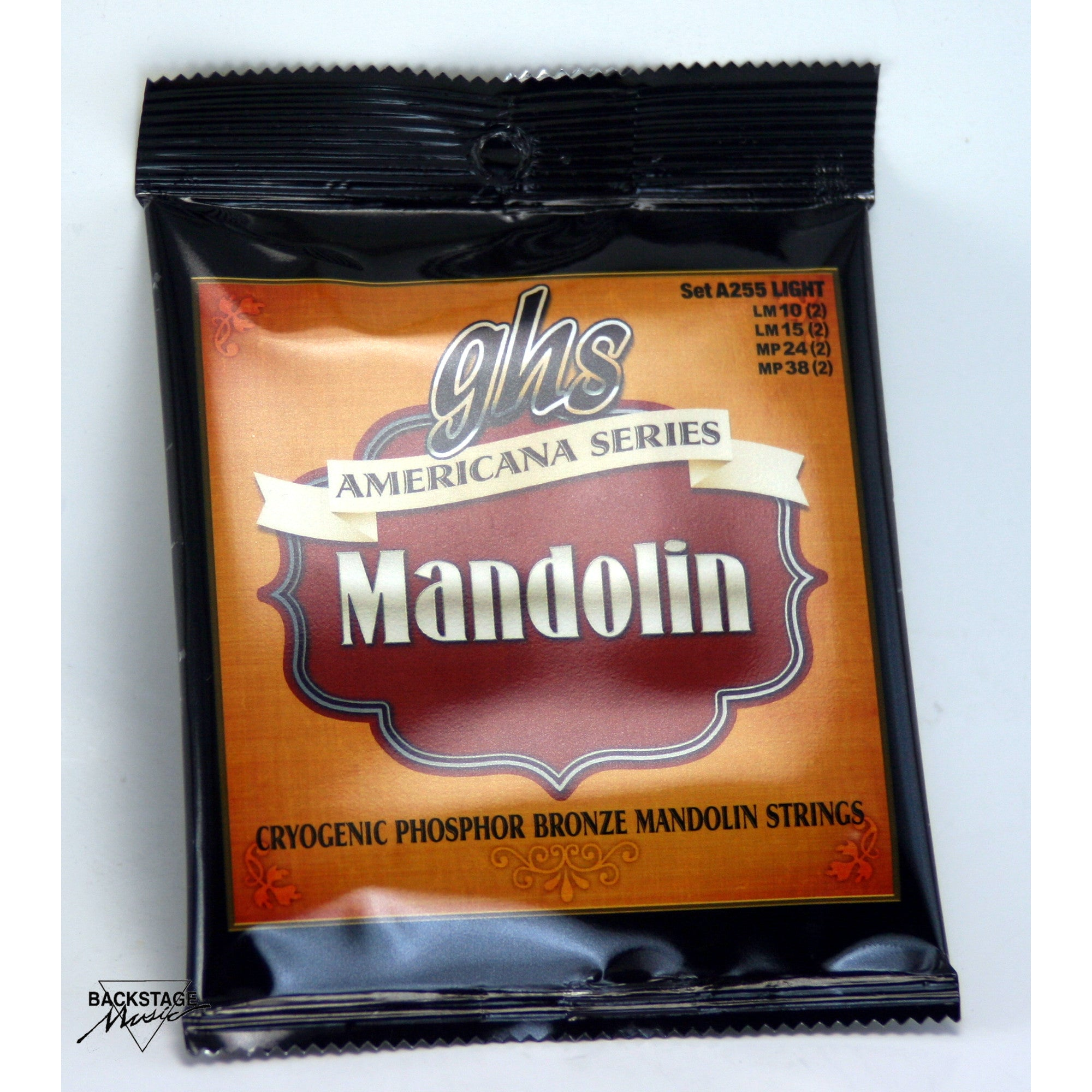 GHS Phosphor Bronze Mandolin Strings, Light Gauge 10-38