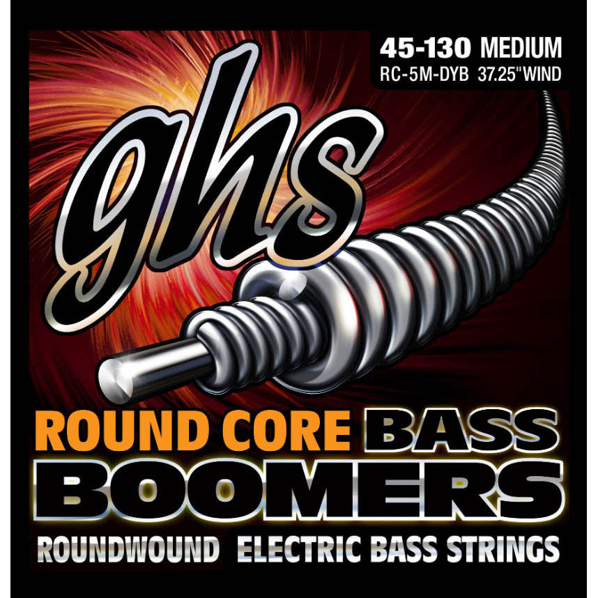 GHS Bass5 Boomers  Bass Strings 45-130