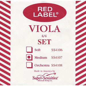 Red Label Viola Strings (Full Size)