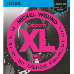 D'Addario EXL170-5   45-130 Bass 5 String Set