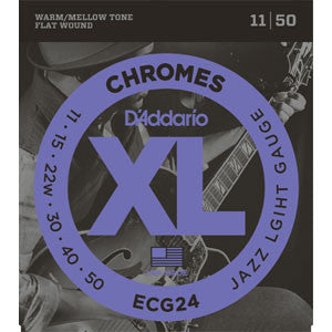 D'Addario ECG24 Flatwound Chromes 11-50 Electric Guitar Strings