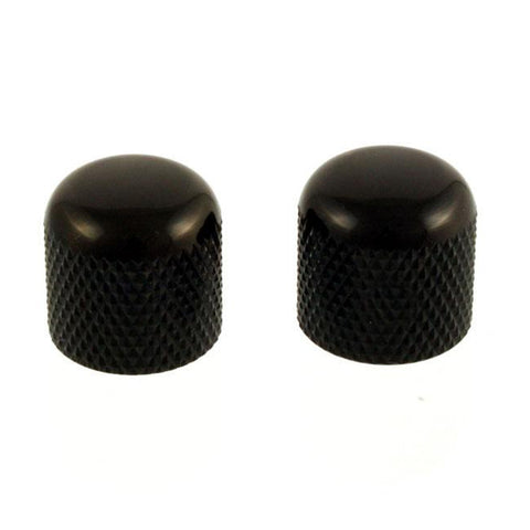 Black Dome Knobs, Push On (Pack of 2)