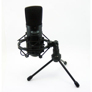 CAD Large Diaphragm USB Condenser Mic With Shock Mount, Stand and Cable