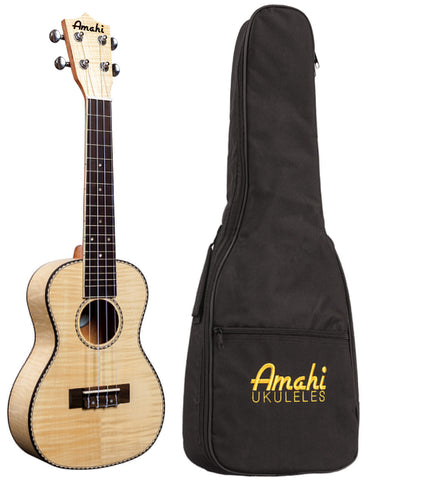 Amahi Classic Flamed Maple Concert UkuleleUK550C