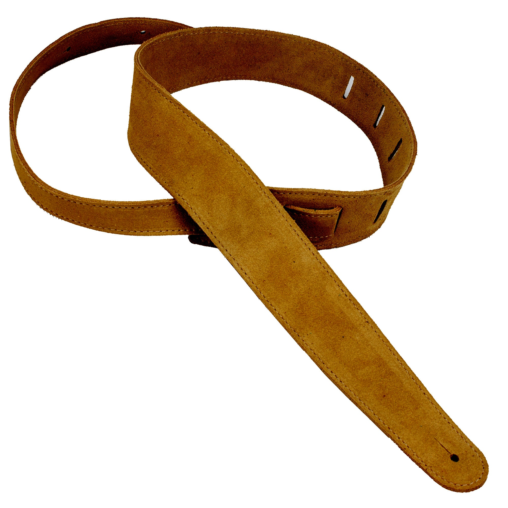 "Henry Heller 2.5"" Honey-Colored Capri Suede Guitar Strap"