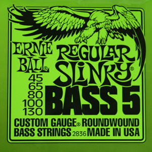 Ernie Ball Regular Slinky 45-130 Electric 5 String Bass Strings