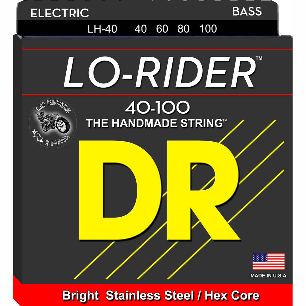 DR Lo-Rider Bass Strings 40-100