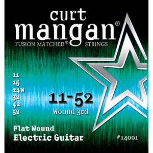 Curt Mangan Flatwound Electric Guitar Strings 11-52
