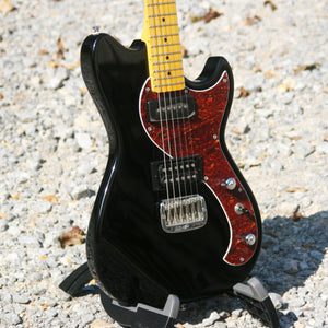 G&L Tribute Fallout, Gloss Black With Tortoise Shell Pickguard