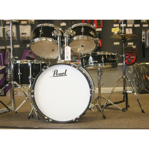 Pearl Roadshow Jr. 5 Piece Black Drum Kit, Complete
