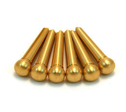 Bridge Pins, (6) Brass