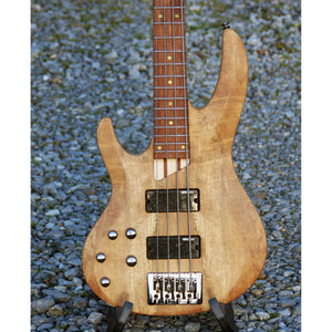 LTD Left-Hand 4 String Bass, Spalted Maple and Natural Satin Finish, NEW
