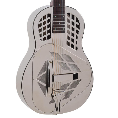 Recording King Tricone Metal Body Resonator, Free Case, Free Shipping