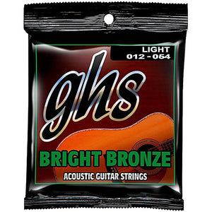 GHS Bright Bronze Light Acoustic Strings  12-54