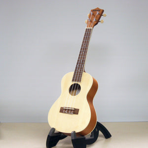 Amahi Panda Soprano Spruce Top Ukulele With Padded Gig Bag