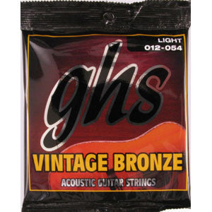 GHS Vintage Bronze Light 12-54 Acoustic Guitar Strings