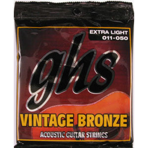 GHS Vintage Bronze  XL 11-50 Acoustic Guitar Strings