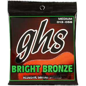 GHS Bright Bronze Med 13-56 Acoustic Guitar Strings