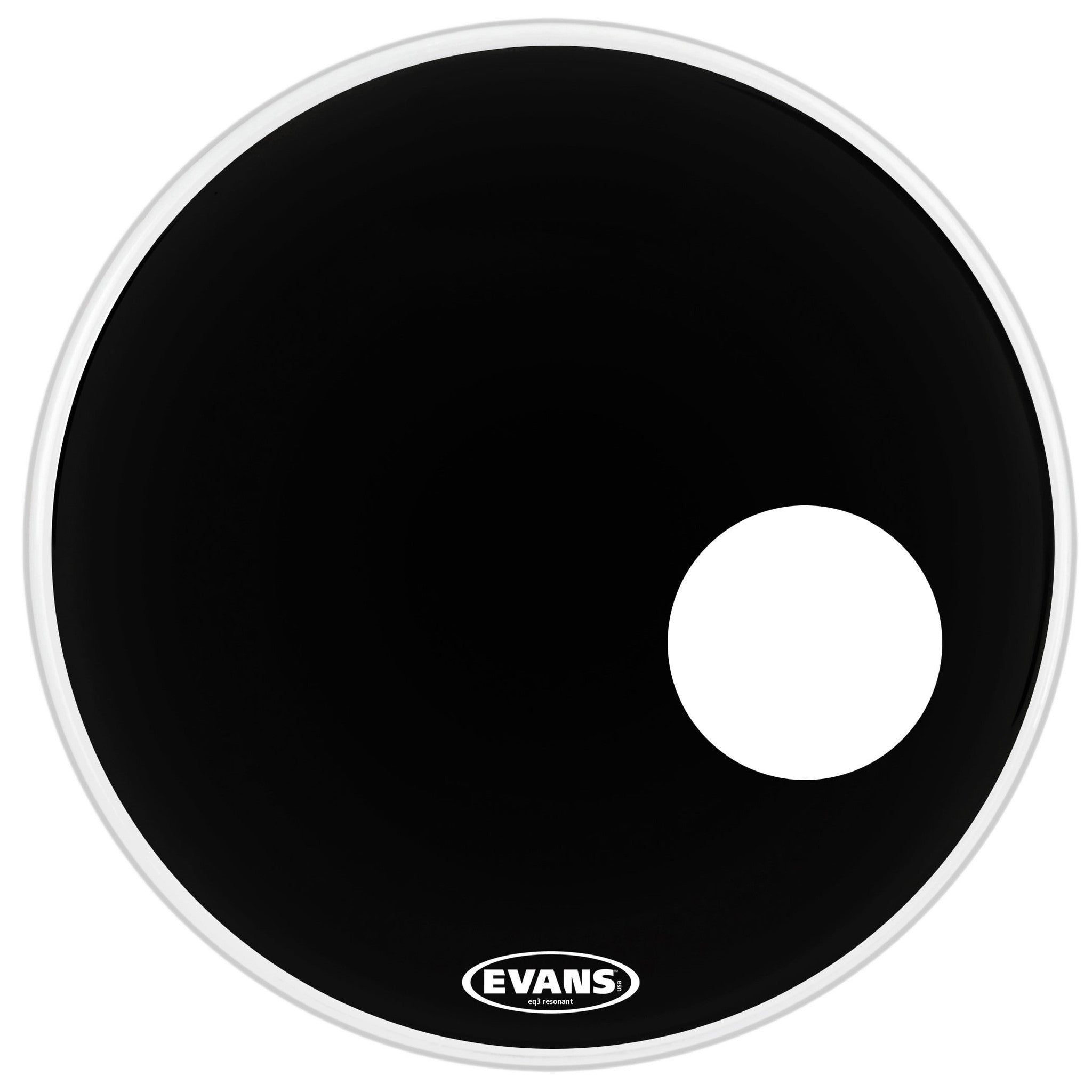 "Evans 22"" EQ3 Resonant Black Drum Head"