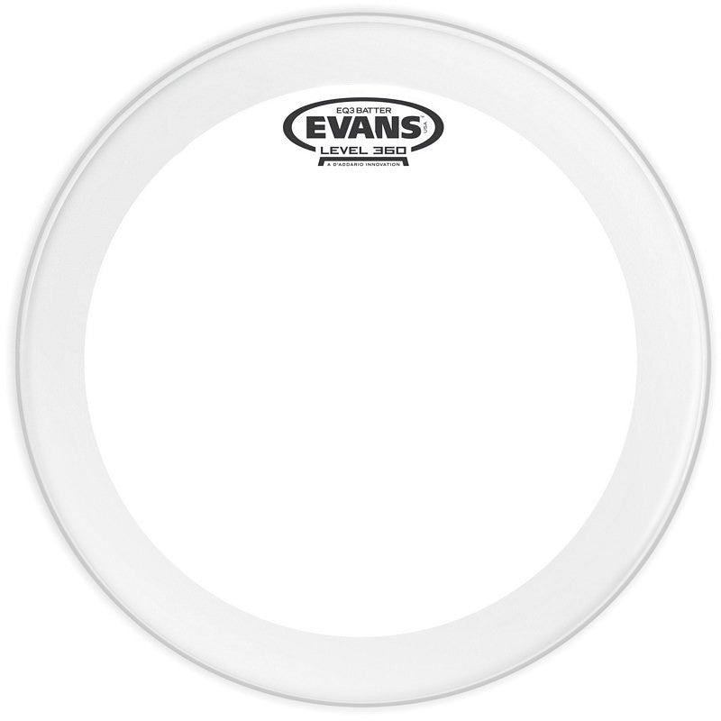 "Evans 22"" EQ3 Batter Clear Drum Head"