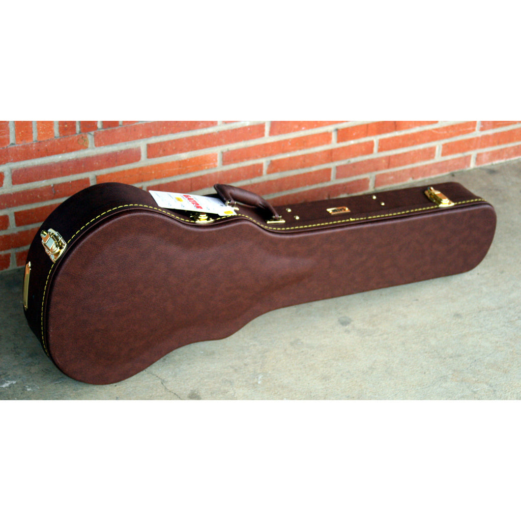 Gator Les Paul Hard Case, Brown Leather
