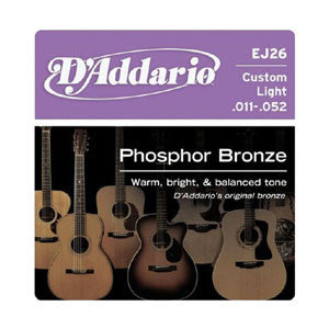 D'Addario EJ26 Phosphor Bronze Cus Lt 11-52 Acoustic Guitar Strings