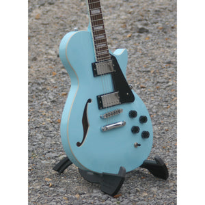 LTD Xtone Semi-Hollow Body Electric Guitar, Sonic Blue  (NEW)