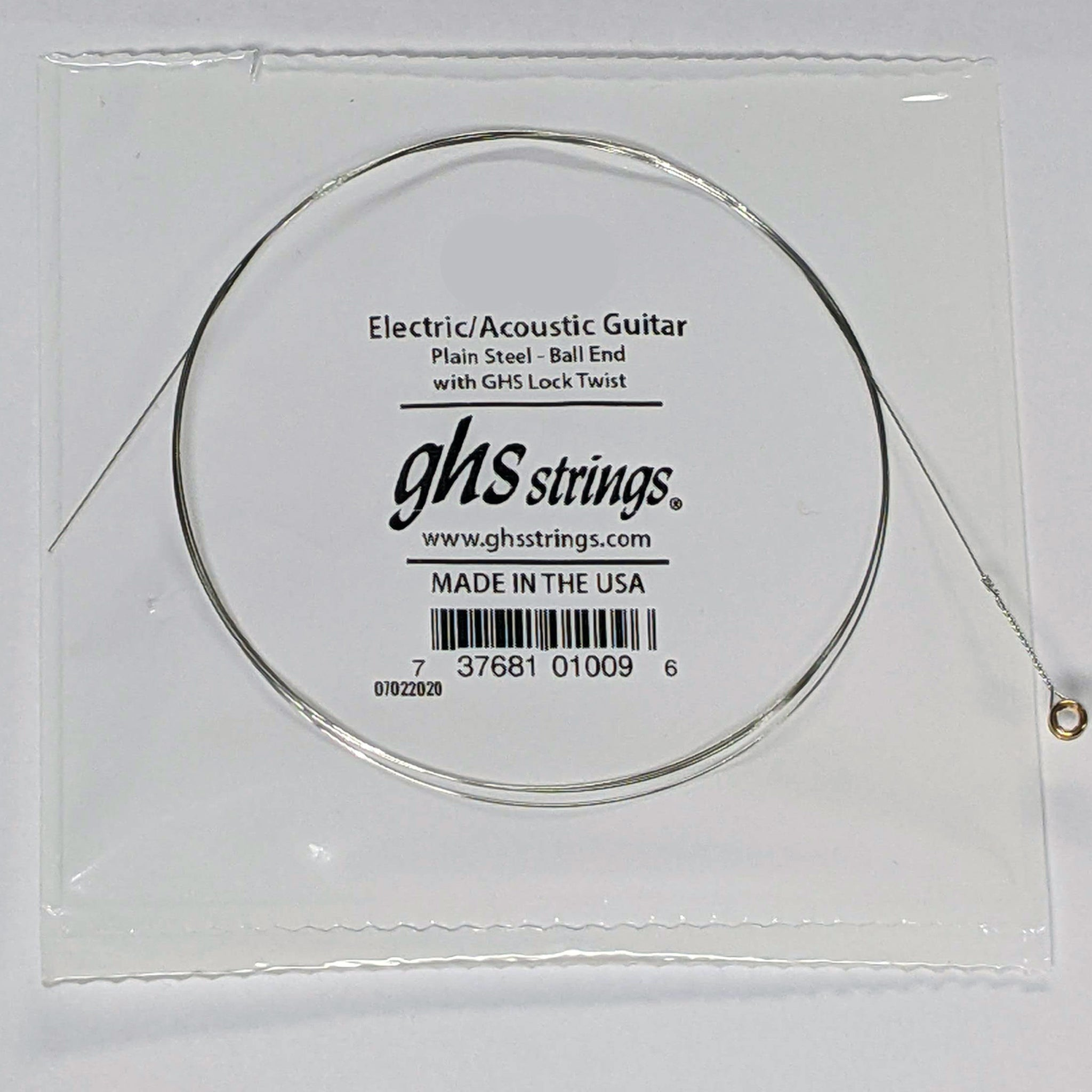 GHS Plain steel single string .010