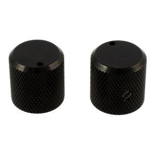 Gotoh Flat-Top Black Metal Knobs, Set-Screw Style