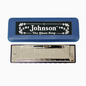 "Johnson ""The Blues King"" Harmonica, Key of C, Blues Harp"