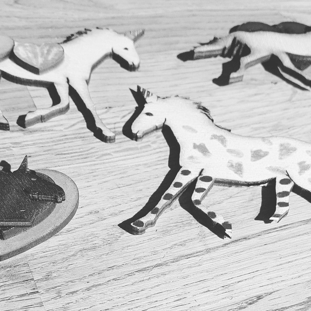 Painted Horses and other wooden reminenents