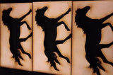 HORSE Craft Project Equestrian Design Art  - DRAW, DECORATE VARNISH MAKE. -  - 3