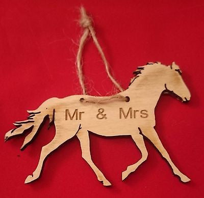 Horse Wedding Favour gift  equestrian Mr & Mrs  traditional vintage  Jute. -  - 1