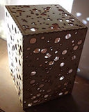 Wooden Dotty Large Table Lamp Shade -  LED lighting  spots / dots illuminating -  - 4
