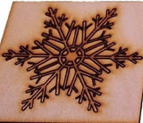 Christmas Drinks Coasters  Snowflake Design. Vintage style. Wooden set of 4 gift -  - 4