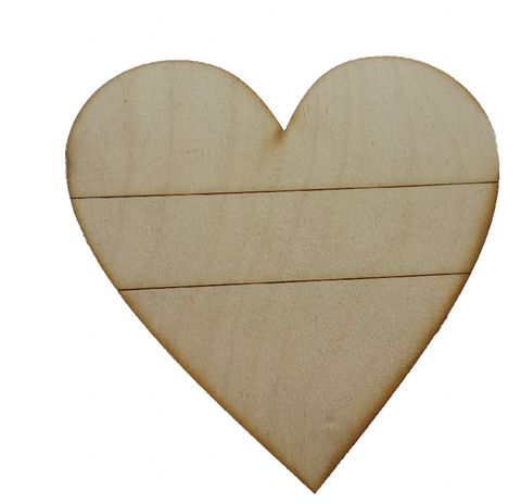 Heart Wooden - Large Ready for decoupage or painting 15 x 15 cm - Designed by Soriska Ltd