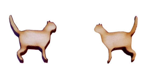 Cat Embellishments Wooden Pack of 10 For Crafty Cat Projects