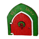 Christmas Elf Door Decoration on Shelf Skirting board