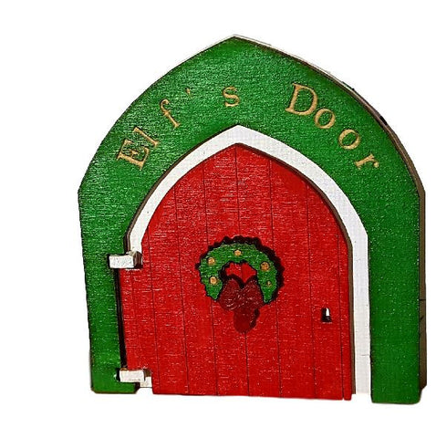 Christmas Elf Door on Shelf Skirting board