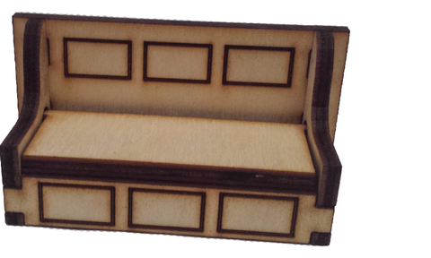 Bench Seat Opening Storage :  Dolls House Furniture / Fairy Door Accessories - Designed by Soriska Ltd - 1