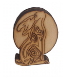 Moon Hare. Two Ear Side View.  Free Standing Wooden Craft 44 x 32 mm - Designed by Soriska Ltd - 1