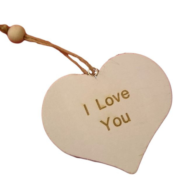 Wooden White Heart Personalise with Words of your Choice