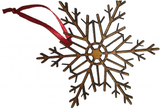 Snowflakes Christmas Tree Decorations : Wooden -  - 3