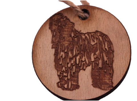 Christmas Decoration Dog : Puli, Sheepdog, Bearded Collie, Bergamasco. -  - 1