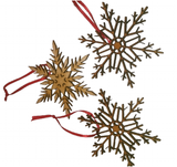 Snowflakes Christmas Tree Decorations : Wooden -  - 1