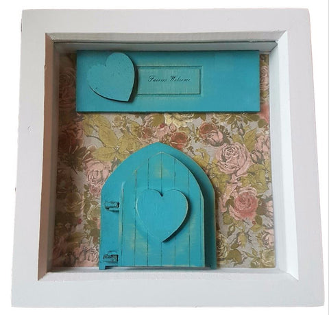 Personalised Picture Vintage Fairy Door in Frame