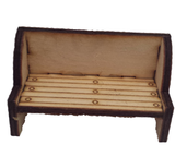 Bench, Seat  :  Dolls House Furniture / Fairy Door Accessories - Designed by Soriska Ltd - 2