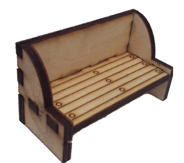 Bench, Seat  :  Dolls House Furniture / Fairy Door Accessories - Designed by Soriska Ltd - 1