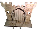 Fairy Door  Drawbridge Series Knights Castle with base engraved with crocodiles - Designed by Soriska Ltd - 2